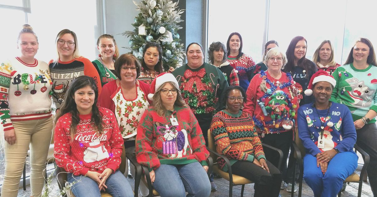 Employees Take Part in Holiday Sweater Contest