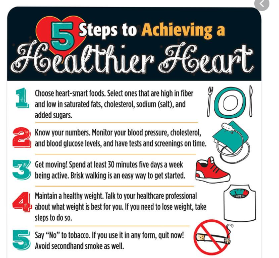 5 Steps to Achieving a Healthier Heart [Infographic]