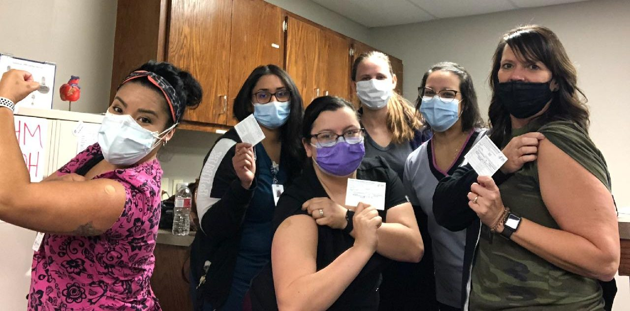 Essential Health Care Staff Received Initial COVID-19 Vaccine!